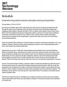 Robofish | MIT Technology Review